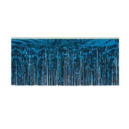 6 Units of 1-Ply FR Metallic Fringe Drape blue - Streamers & Confetti