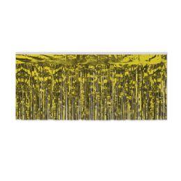 6 Units of 1-Ply FR Metallic Fringe Drape gold - Streamers & Confetti