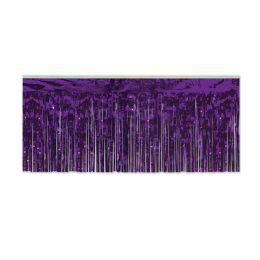 6 Units of 1-Ply FR Metallic Fringe Drape purple - Streamers & Confetti