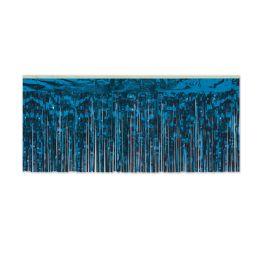 6 Units of Pkgd 1-Ply FR Metallic Fringe Drape blue - Streamers & Confetti