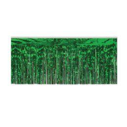 6 Units of Pkgd 1-Ply FR Metallic Fringe Drape green - Streamers & Confetti