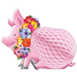 12 Units of Luau Pig Centerpiece - Party Center Pieces