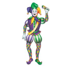 12 Units of Jointed Mardi Gras Jester - Bulk Toys & Party Favors