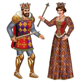 12 Units of Jointed Royal King & Queen Asstd Designs - Bulk Toys & Party Favors