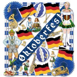 Oktoberfest Decorating Kit - 36 Pcs - Party Accessory Sets