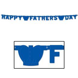 12 Units of Foil Happy Father's Day Streamer - Streamers & Confetti