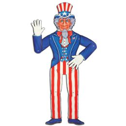 12 Units of Jointed Uncle Sam - Bulk Toys & Party Favors