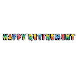 12 Units of Happy Retirement Streamer - Streamers & Confetti