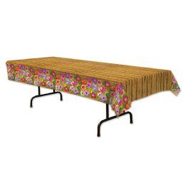 12 Units of Luau Tablecover Plastic - Table Cloth