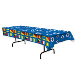 12 Units of Nautical Tablecover Plastic - Table Cloth