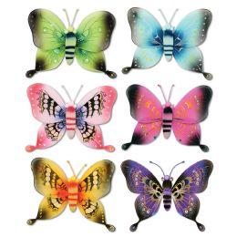 12 Units of Jumbo Majestic Butterflies Asstd Designs; Nylon - Hanging Decorations & Cut Out