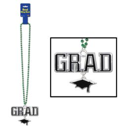 12 Units of Beads W/grad Medallion Green - Party Necklaces & Bracelets