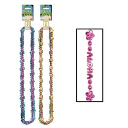 12 Units of Aloha BeadS-OF-Expression 6 Cards Asstd B/c/t & 6 Cards Asstd Lg/o/pl - Party Necklaces & Bracelets