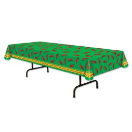 12 Units of Chili Pepper Tablecover Plastic - Table Cloth