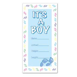 12 Units of It's A Boy Door Cover indoor & outdoor use - Photo Prop Accessories & Door Cover