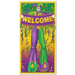 12 Units of Mardi Gras Door Cover Indoor & Outdoor Use - Photo Prop Accessories & Door Cover