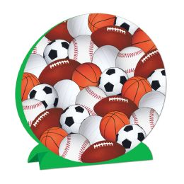 12 Units of 3-D Sports Centerpiece - Party Center Pieces