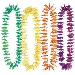 50 Units of Silk 'n Petals Waikiki Leis Asstd Colors - Party Novelties