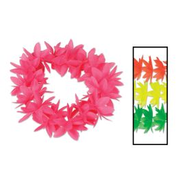 12 Units of Silk 'N Petals Neon Lotus Headbands asstd colors - Party Necklaces & Bracelets
