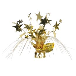 12 Units of Star Gleam 'N Spray Centerpiece gold - Party Center Pieces