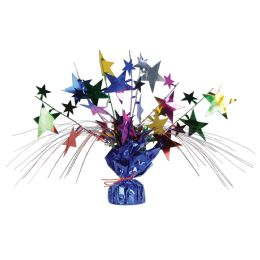 12 Units of Star Gleam 'N Spray Centerpiece multi-color - Party Center Pieces