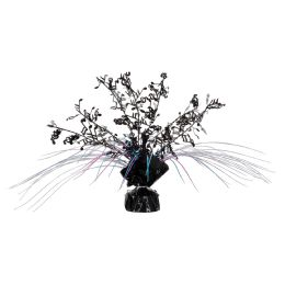 12 Units of Musical Notes Gleam 'N Spray Centerpiece black, cerise, turquoise - Party Center Pieces