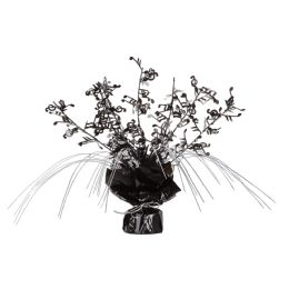 12 Units of Musical Notes Gleam 'N Spray Centerpiece black & silver - Party Center Pieces