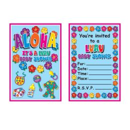 12 Units of Hula Baby Invitations envelopes included; prtd 2 sides - Invitations & Cards
