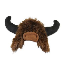 6 Units of Plush Buffalo Hat One Size Fits Most; No Retail Packaging - Party Hats & Tiara