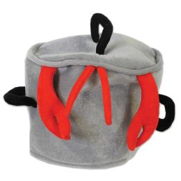 12 Units of Plush Boiling Pot Hat One Size Fits Most - Party Hats & Tiara