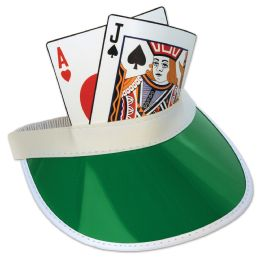 12 Units of Blackjack Visor one size fits most - Party Hats & Tiara