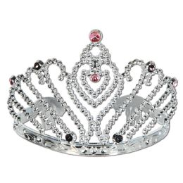 12 Units of Plastic Bachelorette Party Tiara W/faux Gemstones; Combs Attached - Party Hats & Tiara