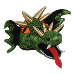 6 Units of Plush Dragon Hat One Size Fits Most - Party Hats & Tiara
