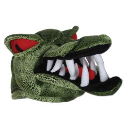 6 Units of Plush Crocodile Hat One Size Fits Most - Party Hats & Tiara