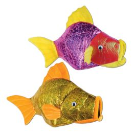 6 Units of Fish Hats Asstd Colors; One Size Fits Most - Party Hats & Tiara