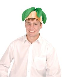 6 Units of Plush Palm Tree Hat one size fits most - Party Hats & Tiara