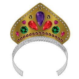 72 Units of Printed Jeweled Tiara - Party Hats & Tiara