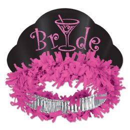 12 Units of Glittered Bride Tiara - Party Hats & Tiara