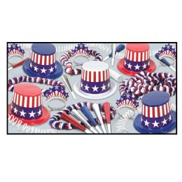 Spirit Of America CleaR-View Asst For 10 No Retail Price On Label - Party Accessory Sets