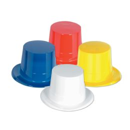 24 Units of Plastic Toppers asstd colors; one size fits most - Party Hats & Tiara