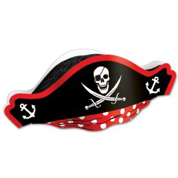 48 Units of Printed Pirate Hat w/Tissue Crown one size fits most - Party Hats & Tiara