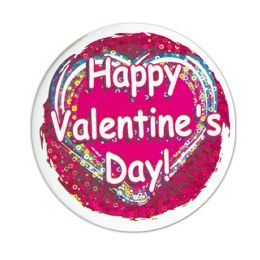 12 Units of Happy VALENTINE's Day! Button lazer etched