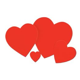 48 Units of Printed Heart Cutout prtd 2 sides - Hanging Decorations & Cut Out