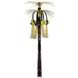 12 Units of New Year Cascade Hanging Column black & gold - Hanging Decorations & Cut Out
