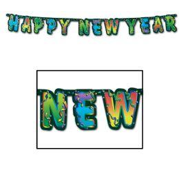 12 Units of Happy New Year Streamer - Streamers & Confetti