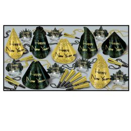 Sparkling Gold Asst for 25 - Party Accessory Sets