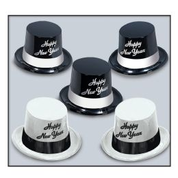 25 Units of Black & White Legacy Toppers asstd black & white; one size fits most - Party Accessory Sets