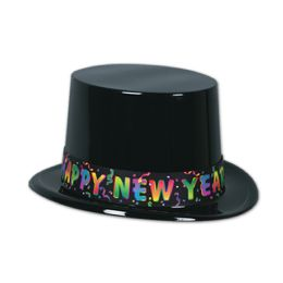 25 Units of Celebrate Hny Topper Black; One Size Fits Most - Party Hats & Tiara