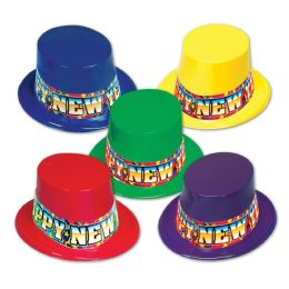 25 Units of Rainbow Blast Toppers Asstd Colors; One Size Fits Most - Party Hats & Tiara