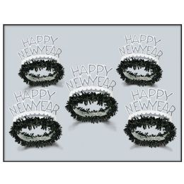 50 Units of Black & White Legacy Tiara One Size Fits Most - Party Hats & Tiara